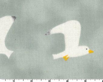 Trefle Cucito DOUBLE GAUZE - Birds Grey from Kokka Fabrics