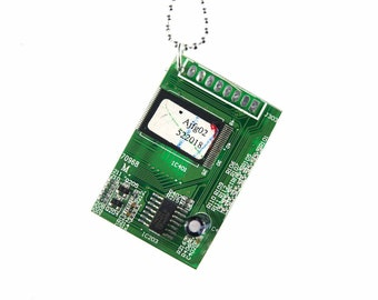 [KETTE0187] Miniblings necklace chain board computer circuit board computer components 80 cm PC