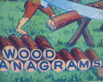 Vintage Anagrams - Game - Wooden Letters