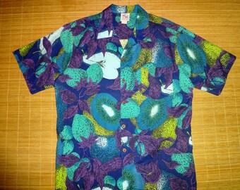 Mens Vintage 80s Duke Kahanamoku Surf Hawaiian Aloha Shirt - XL -  The Hana Shirt Co