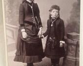 Antique Carte Vista Photo San Francisco Sisters 1870's
