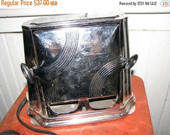 Valentine SALE Art Deco Toaster , Chrome Drop Side Toaster , Working Appliance