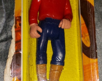 Fisher Price- DUNE BUSTER- Adventure People Figurine- On Card-c1979