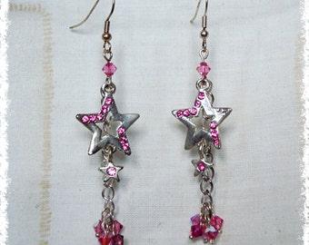 Diamante Star Earrings