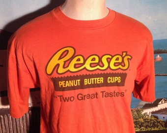 1980's Reese's Peanut Butter Cups t-shirt, soft & thin, fits like a large