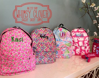 Monogrammed Girls/Teen Backpack -- add optional personalized Contigo Water Bottle -- and make it a Set! Back to School, Great Birthday Gift!