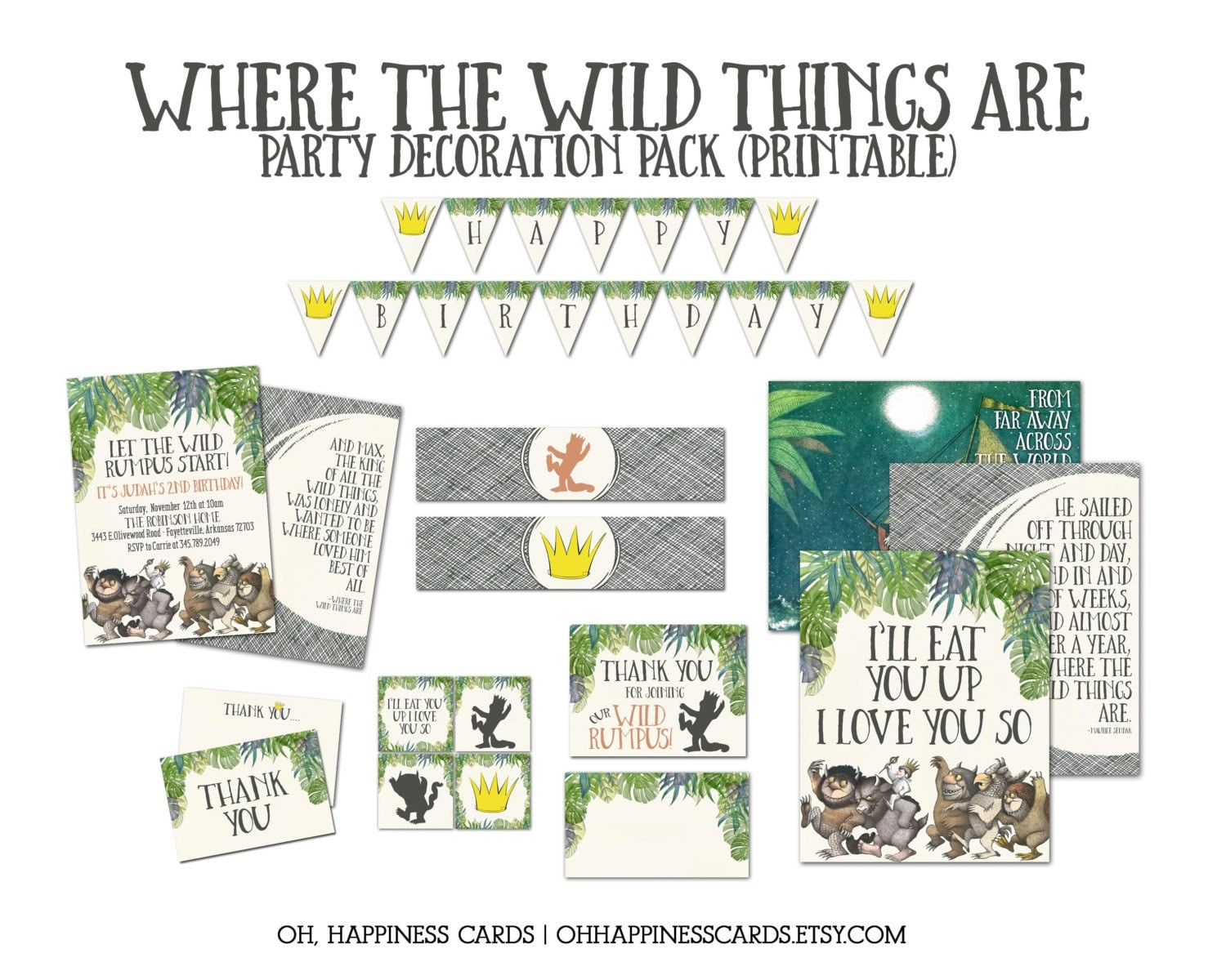 It is a photo of Amazing Where the Wild Things Are Printables for Free