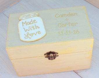 Rustic Recipe Boxes - Recipe Storage - Wood Recipe Box - Farmhouse Style Gift - Recipes Organizer - Fixer Upper Style - Recipes Organizer