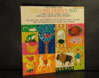 Record LP-Folk Songs From the Children's Zoo-Sing Along Animal Songs-1960-Riverside Wonderland