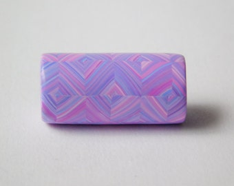 Dread Bead with 7 mm bead hole, polymer clay bead