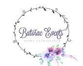 Floral Wreath Logo Premade Small Business Branding Package