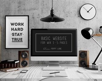 Custom Wix Website Design - 1-5 page design