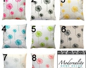 SALE Modern Floral Pillows- Premier Prints Dandelion Pillow Cover- All Sizes- Zippered Pillow- You Choose- Cushion Cover- Spring Pillows