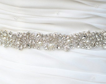 Amazon.com: Crystal sashes for wedding, Wedding Bridal Belt ...