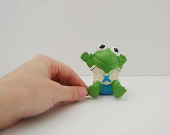 Kermit The Frog Rubber Squeak Toy, Muppet Babies, Baby Kermit, Sesame Street