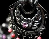 Filigree pink earrings