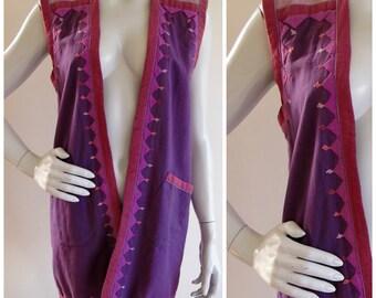 1970s Purple Indian Cotton Mirrored Applique Vest