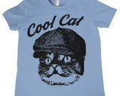 Kids Cool Cat T-Shirt Boys Girls Birthday Shirt Kids Birthday Gift Funny Kids Tees Childrens T Shirts Cool Kids Tee Cute Cat Face Whiskers