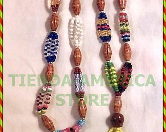 """Santeria Yoruba. BANDERA NECKLACE FOR Babalawo 30"""". Collar de Bandera para Babalawo"""