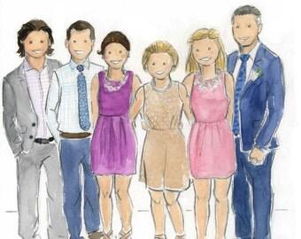 Custom Family Watercolor Large