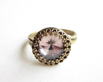 Ring,rings,vintage style ring,boho ring,Crystal ring ,adjustable ring,verstellbarer ring,