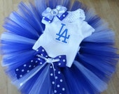 Los Angeles Dodgers inspired tutu outfit