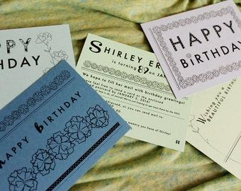 Birthday card surprise - 50 postcard greetings for elderly or homebound