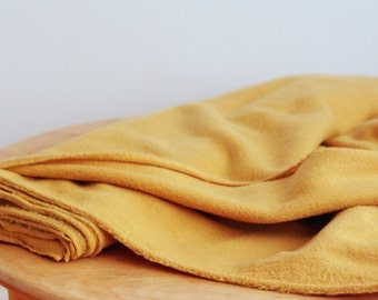Antique gold polar fleece fabric by the yard