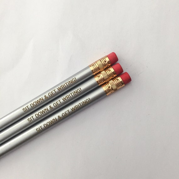 sit down and get writing 3 pencils in silver. because your thoughts cannot write themselves.
