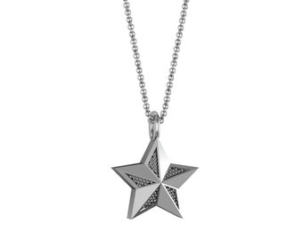 Star Necklace in 14k White Yellow Rose Gold | made to order for you within 5-7 business days