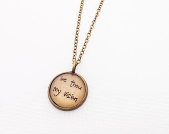 Be Thou My Vision. Tiny Charm Necklace.