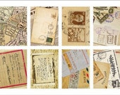 Retro Stamp Sticker Set - Ver. 3 - Vol. 7 Vintage Letter - 2 Sheets - 16 Pcs