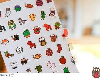 Translucent Sticker Set - Odong et Valerie - North Europe Sticker - Ver. 2 - 5 Sheets