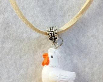 Chicken Figurine Necklace
