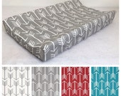 Contour Changing Pad Cover In  White Arrow on Stone Grey or Choose Color