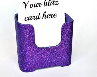Bling Blitz card holder. Postcard Holder  Glitter.  Sparkly.  Sparkles.  Vertical postcard holder.