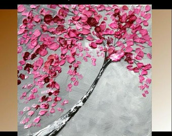 """Original  abstract contemporary gallery canvas  palette knife abstract painting  """"Asian Spring"""" by Nicolette Vaughan Horner"""