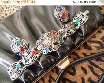 NOW ON SALE Vintage Jelly Belly Bracelet Set 1950s 60s Demi Parure Jewelry Rockabilly Accessories Mad Men Mod Martini Mermaid