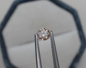 4mm Champagne diamond loose round 0.25 carats