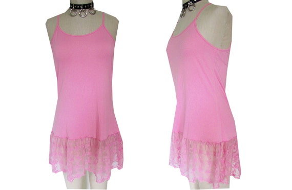 Bubblegum Pink Lace Floral See Through Babydoll Mini Dress