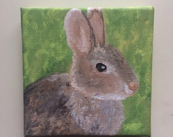 Small Brown Bunny Painting