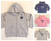 Dallas Cowboys Zip Up Fleece Hoodie - Baby and Toddler Sizes
