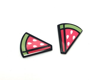 4pcs - Flatback Resin Cabochon Embellishment - Watermelon
