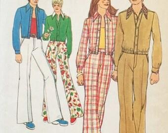 "Simplicity 5590 Misses' Jacket and Pants Pattern, UNCUT, Size 12, Breast 34"", Vintage Pattern, 1973, Unlined Jacket, Retro, Flashback"