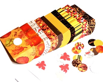 Autumn Tiny Envelopes Set of 10, Gift Card Holders, Wedding Party Favor Birdseed Pouches, Fall Mini Handmade Stationery Set itsyourcountry