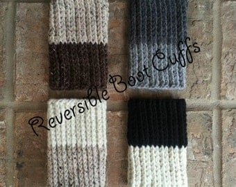 Reversible Boot Cuffs Reversible Boot Cuffs Womens Reversible Boot Cuffs Wool Reversible Boot Cuffs Crochet Reversible Boot Cuffs Boot Socks