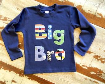 Big Brother Shirt...Big Bro, Mid Bro, Lil Bro...Long or Short Sleeved- 0-3m to 12 yrs