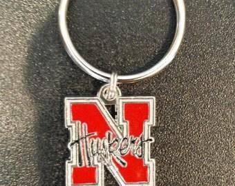 University of Nebraska Huskers Cornhuskers Inspired Keychain
