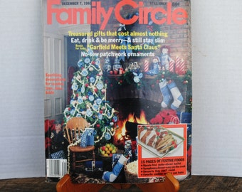 Vintage 1982 Family Circle Magazine December 7th