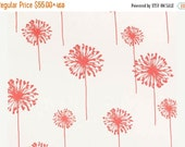 SALE Curtain Panels 24w or 50w x 63, 84, 90, 96 or 108L in Premier Prints Coral Dandelions on White